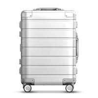 MI 小米 90分 米家90分铝镁合金旅行箱拉杆箱 男女万向轮登机行李箱 20英寸 银色
