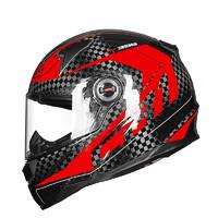 LS2摩托车大码碳纤维头盔男女防雾全盔安全帽机车赛车秋冬季跑盔