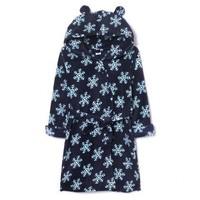 Gap女婴幼童连帽长袖睡袍395729 小女孩外套儿童雪花印花家居服