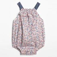 Gap婴儿印花连体衣460458新款新生女宝宝洋气衣服