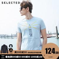 SELECTED 思莱德 男士短袖T恤 S 419201501