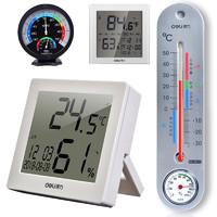 得力室内温湿度计家用精准温湿度计高精度婴儿房壁挂式大棚温度计