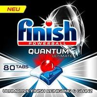 Finish 亮碟 Quantum系列 洗碗机洗涤块 80块