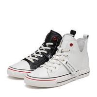 森达 韩版时尚户外休闲女短靴 3YK01CD9 米白 39 *2件