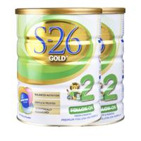 Wyeth 惠氏 S26金装2段进口婴幼儿配方奶粉900g*2罐