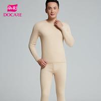 朵彩 DOCARE 保暖内衣 天然彩棉木代尔保暖男套装 彩棉棕-DXA2722 XL