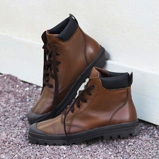 J.ZAO 京东京造 男士圆头工装靴