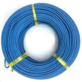 菊花 电线电缆BV16平方 国标单芯单股铜线 家装家用铜芯电线 100米 蓝色