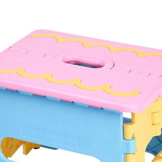 沃特曼Whotman 折叠凳子加厚便携式钓鱼椅手提小板凳塑料马扎自驾游装备WD3120