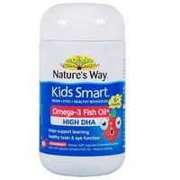 Nature's way 佳思敏 草莓味爆浆鱼油DHA咀嚼丸 50粒 *6件