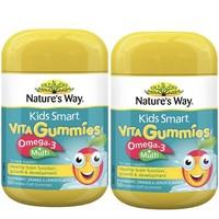 Nature's way 佳思敏 儿童复合维生素+鱼油软糖 2瓶装 *2件