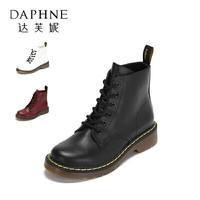 DAPHNE 达芙妮 女士低跟圆头英伦马丁靴 *8件