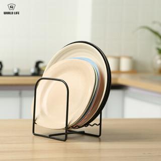 和匠Worldlife 厨房置物架 铁艺日式沥水架碗碟置物架 可沥水碗碟收纳架 3个装 J0-179