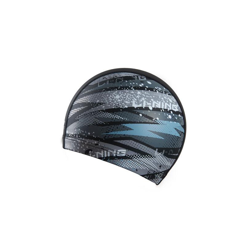 LI-NING 李宁 LSMP027-3 PU涂层泳帽 深灰