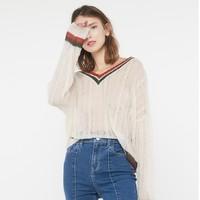 Cache Cache 捉迷藏 8510060123 V领针织毛衣