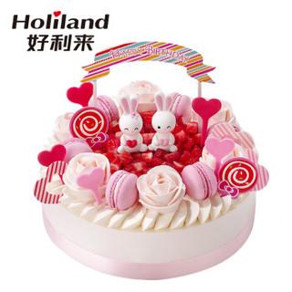 好利来 甜蜜花园 20cm 玫瑰慕斯+芒果  口味生日蛋糕仅限北京订购