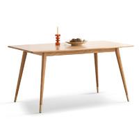 源氏木语 西西里系列 Y57R01 方形橡木餐桌 原木色 (1300*750*750mm)