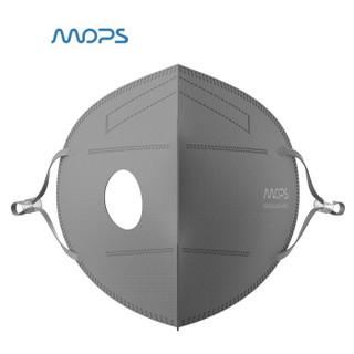 MOPS动力口罩专用耗材 防霾防尘防PM2.5防花粉一次性口罩配件5只装 灰色 需配合主机使用