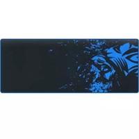 灵蛇 游戏鼠标垫超大号加厚电脑桌垫 精密包边 底部防滑 办公游戏皆宜 P05 黑蓝色