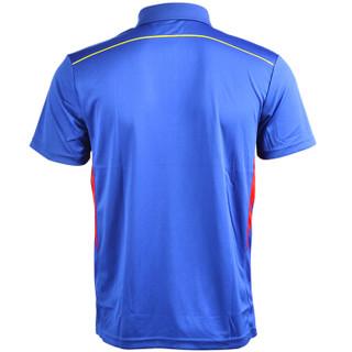 威克多VICTOR胜利羽毛球服 男女款 T-6507F 马来西亚队赛服 运动服T恤 L码 深海蓝 赠运动袜