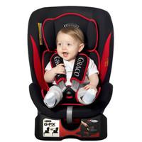 葛莱 Graco婴儿童安全座椅汽车用进口Isofix硬接口可躺 红黑色自带isofix接口