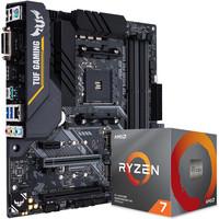 华硕TUF B450M-PRO GAMING主板(AMD B450/AM4) AMD 锐龙7(r7) 3700X CPU处理器 板U套装 CPU主板套装