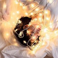 圣诞装饰LED小彩灯2米10灯电池款送电池 赠品