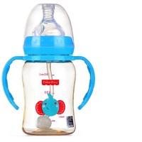 费雪 ppsu婴儿重力球吸管奶瓶 180ml 带手柄