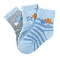 米乐鱼 儿童棉袜毛圈袜 3双装