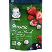 Gerber 嘉宝 有机草莓红莓酸奶溶豆 3段 28g/袋