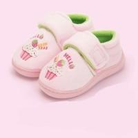 Lemonkid 柠檬宝宝 儿童棉拖鞋
