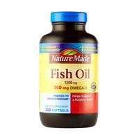 Nature Made天维美 无腥味深海鱼油液体软胶囊 220粒/瓶 *2件