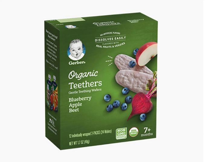 Gerber 嘉宝 有机蓝莓苹果磨牙米饼  48g(7个月以上)