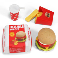 DODOELEPHANT 豆豆象 儿童汉堡过家家玩具3件套