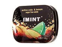 IMINT 无糖薄荷糖 方盒装 青柠可乐味 1盒