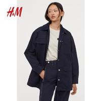 HM 0783709 女士休闲宽松斜纹外套