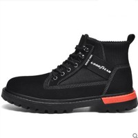 GOOD YEAR 固特异 系带中筒男士工装靴 Y9201015-16 黑色 38