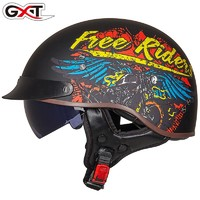 GXT MT4 摩托车头盔 复古瓢盔