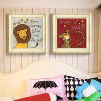 星珂 现代简约美式儿童房卧室壁画