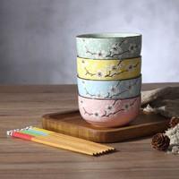 八姐 釉下彩陶瓷饭碗 4碗4筷 无礼盒款
