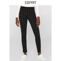 ESPRIT 女士格纹休闲裤