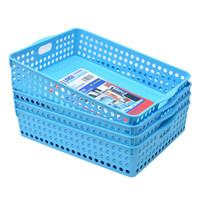 Jeko&Jeko SWB-5215 厨房塑料收纳篮 4只装 蓝色