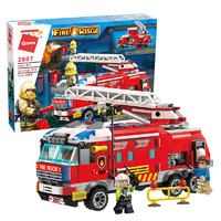 考拉工厂店 城市系列-消防指挥车 366颗粒礼盒装