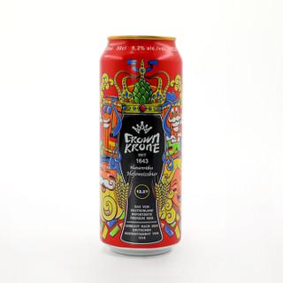 皇冠 德国皇冠小麦白啤酒(精酿系列) 500ml*24听 德国原装进口