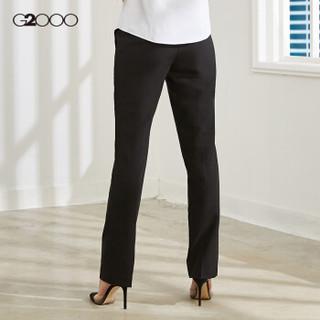 G2000女装商务时尚女装黑色修身长裤 淑女气质通勤简约正装西裤00750001 黑色/99 32/155