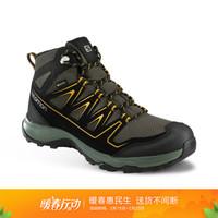 萨洛蒙(Salomon)男款户外时尚中邦防水徒步鞋ONIS MID GTX 灰色410894 UK6.5(40)