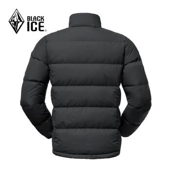 BLACKICE 黑冰 男士灰鹅绒立领无帽拉链羽绒服F8111 黑色 L