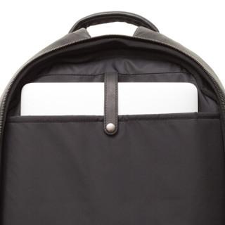 cote&ciel电脑包Isar Small防水书包苹果联想华硕双肩背包13英寸牛皮玛瑙黑28603