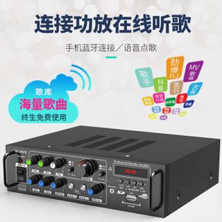 索爱(soaiy)CK-M66 H款套装 8英寸家庭影院KTV音响套装家用商用会议设备卡拉ok专业功放机低音炮蓝牙音箱