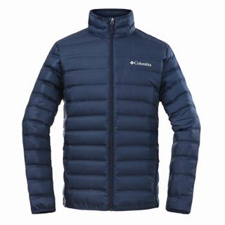 哥伦比亚(Columbia)羽绒服 男士秋冬运动户外加厚保暖650蓬松度灰鸭绒防风外套 WE0951 464 M